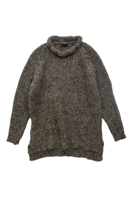 Knitted Woolen Pullover Loroni Mud Marl by Anja Schwerbrock-S