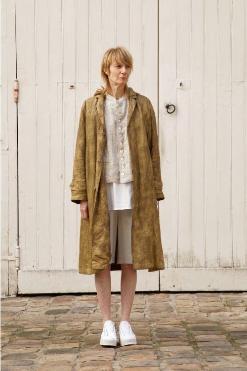 Linen Coat Martin Brass by Ecole de Curiosites