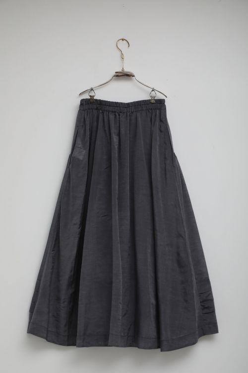 Cotton and Silk Skirt Sandrine Steel Grey by Ecole de Curiosites-S