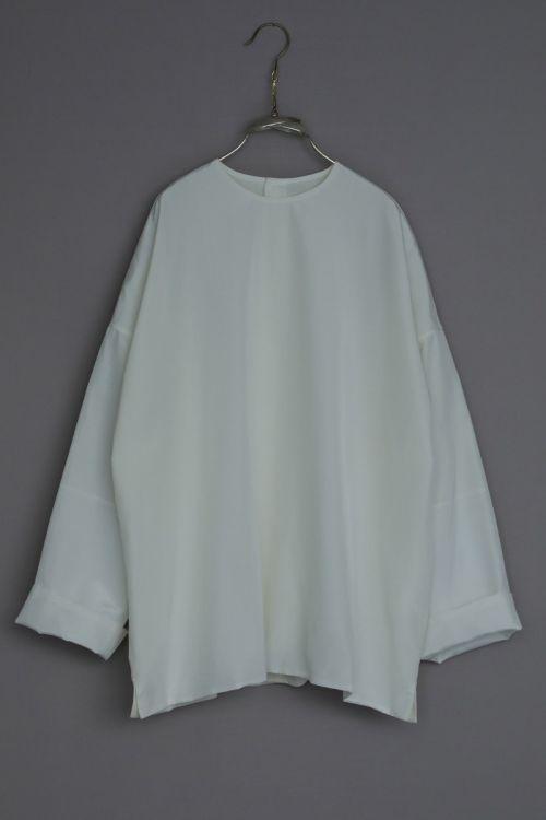 Silk and Cotton Shirt Silvan White by Ecole de Curiosites-S