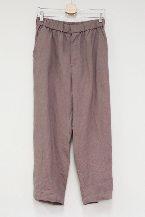 Dusty Rose Linen Pants by Toujours-S