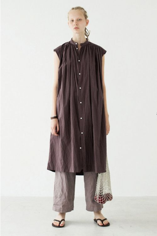 Shirt Dress Plum-S