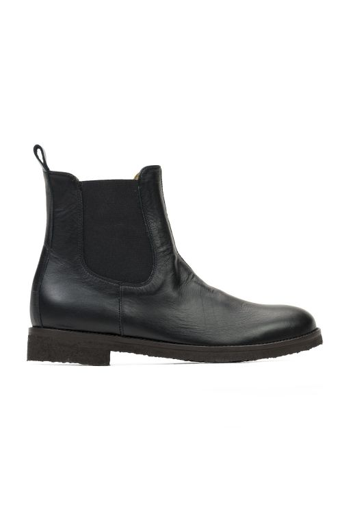 Leather Chelsea Boots Black by Pepe Shoes