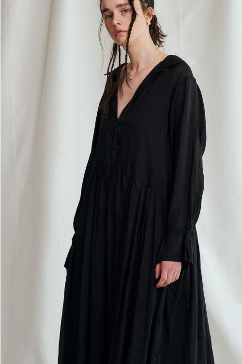 Shirt Dress Black by Vlas Blomme