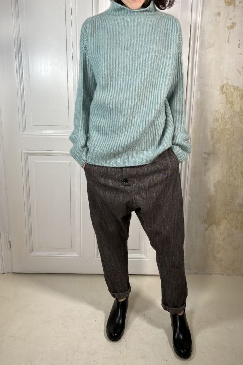 Cashmere Sweater Livia Turquoise by Warm-Me