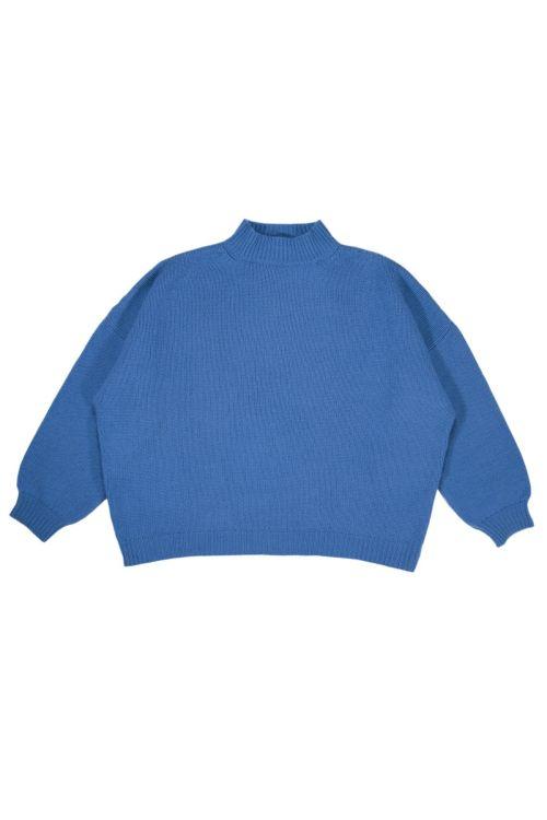 Oversized Sweater Olga Blue Cashmere by Warm-Me