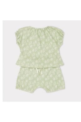 Baby Set Fugu Mint Flower Print by Caramel