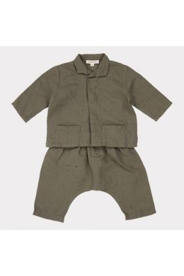 Baby Set Manta Ray Dark Olive by Caramel