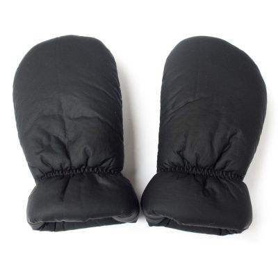 Soft Coated Baby Mittens Black by Anja Schwerbrock