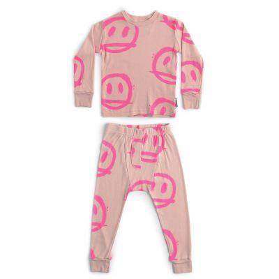 Sprayed Smile Loungewear Powder Pink by Nununu-4Y