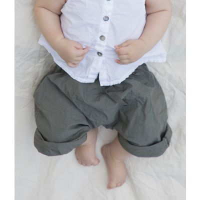 Baby Trousers Chicco Olive by Album di Famiglia -3M