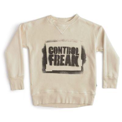 Sweatshirt Sprayed Control Freak Natural by Nununu-4Y
