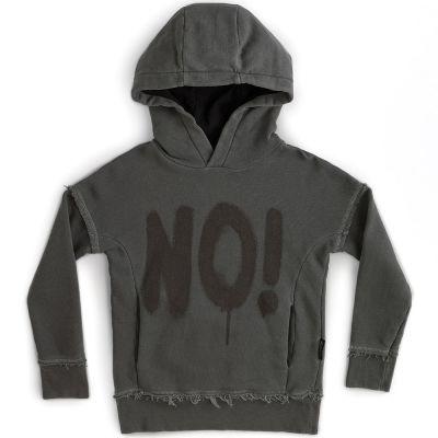 Hoodie Sprayed NO! Vintage Grey by Nununu