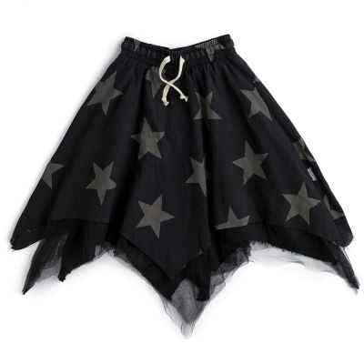 Star Flowy Skirt with Tulle by Nununu