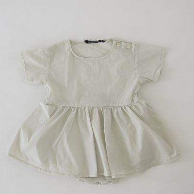 Baby Dress Poupy Chalk by Album di Famiglia