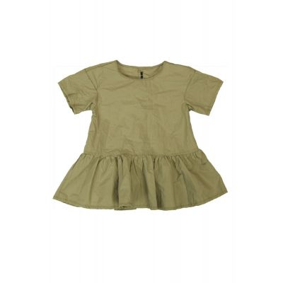 Light Canvas Baby Dress Dina Gold-3M
