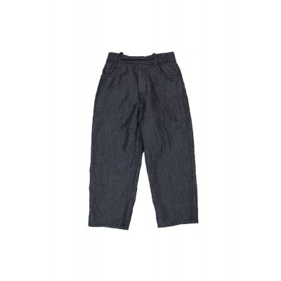 Cotton and Linen Jeans Navy by Album di Famiglia