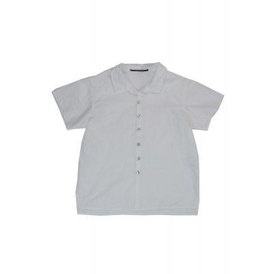 Light Cotton Baby Shirt Marti White by Album di Famiglia