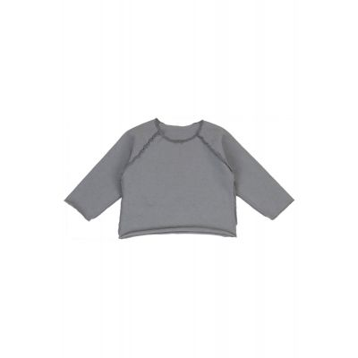 Heavy Cotton Baby Sweatshirt Gray by Album di Famiglia