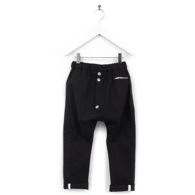 Baggy Cotton Trousers Piro Black by Anja Schwerbrock