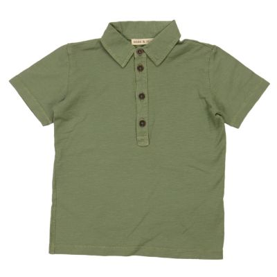 Baby Polo Shirt Green by Babe & Tess