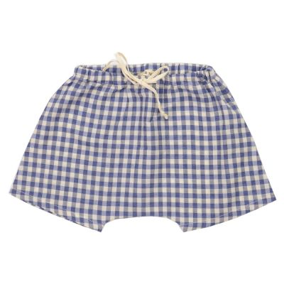 Baby Shorts Blue Check by Babe & Tess