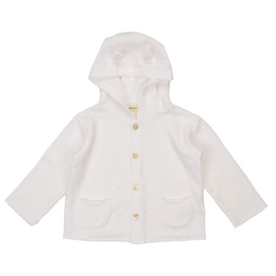 Jersey Baby Jacket with Ears White by Babe & Tess