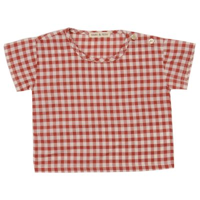 Baby Shirt Red Check by Babe & Tess