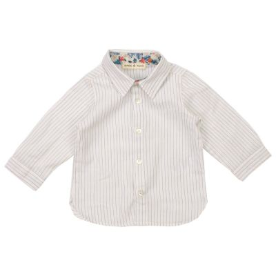 Baby Collar Shirt Blue Striped by Babe & Tess