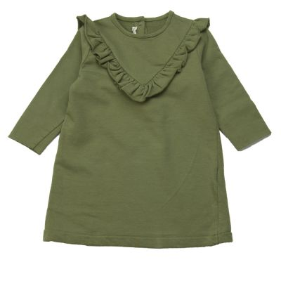 Baby Mini Dress Anna Khaki by Babe & Tess