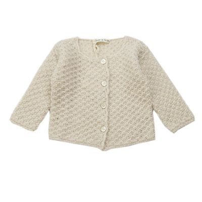 Woolen Baby Knitted Cardigan Natural by Babe & Tess