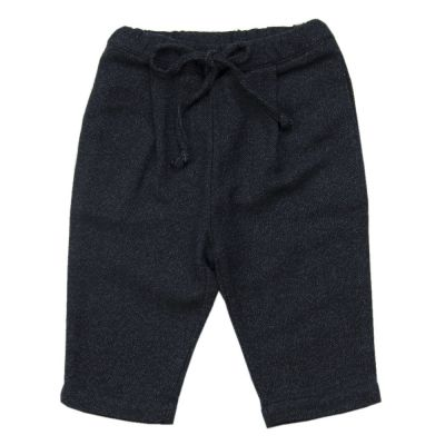 Cotton and Wool Baggy Pant Almost Black by Babe & Tess