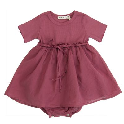 Baby Dancer Bodysuit Dress Antique Rose