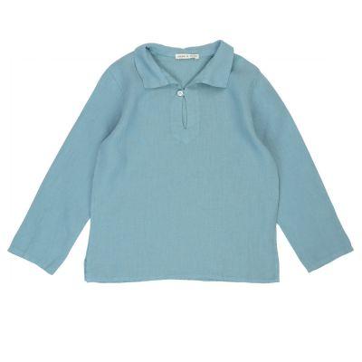 Baby Linen Caftan Shirt Azur by Babe & Tess