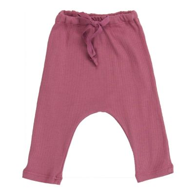 Ribbed Baby Pants Antique Rose by Babe & Tess