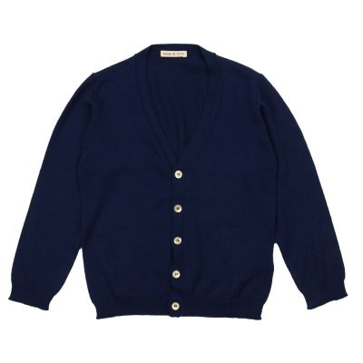 Baby Cotton Cardigan Blue by Babe & Tess