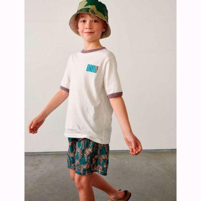 Cotton T-Shirt Kini Vintage White by Bellerose-4Y