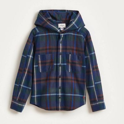 Hooded Overshirt Gautier Check by Bellerose-4Y
