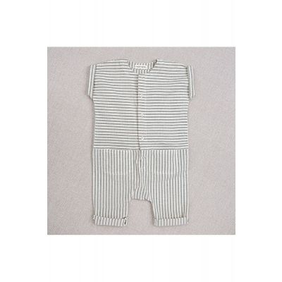 Baby Overall Max Teal Stripes-3M