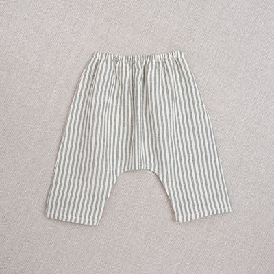 Baby Trousers Arniko Striped Teal-3M