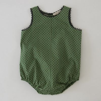 Baby Romper Lamprey Geo Print Green by Caramel