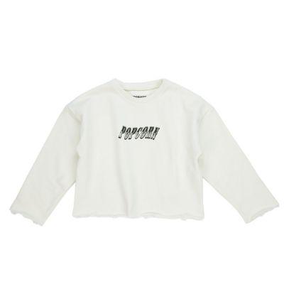 Cropped Sweatshirt Contorsionista Ecru by Touriste-3Y