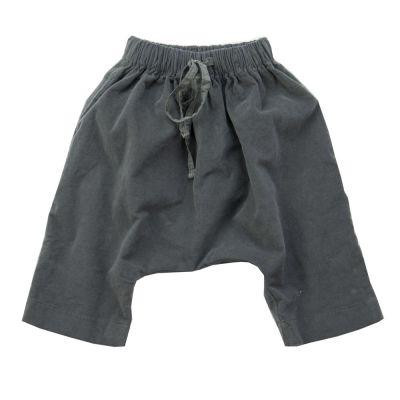 Velvet Baggy Baby Trousers Maryann Dark Grey by Album di Famiglia