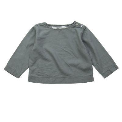 Soft Canvas Baby Shirt Marius Grey by Album di Famiglia