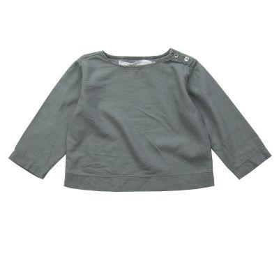 Soft Canvas Baby Shirt Marius Grey by Album di Famiglia-3M