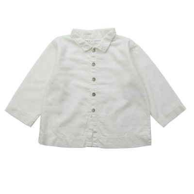 Soft Canvas Baby Shirt Martino Milk by Album di Famiglia-3M