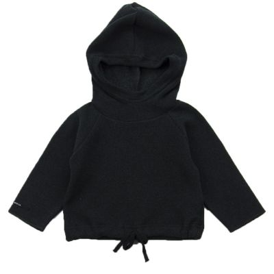 Soft Jersey Baby Hoodie Gulli Almost Black by Album di Famiglia