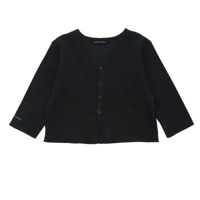 Soft Jersey Baby Cardigan Connie Almost Black by Album di Famiglia