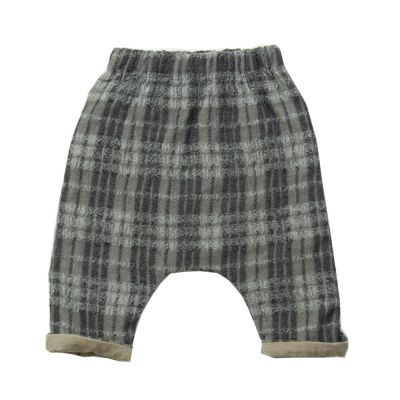 Baby Woolen Trousers Piri Mini Checked-3M