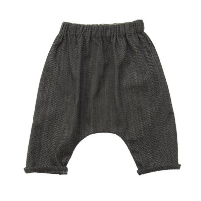 Baby Trousers Piri Mini Herringbone by Anja Schwerbrock-3M